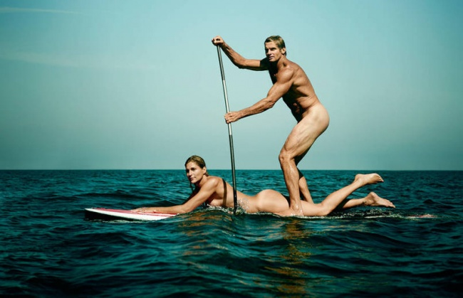 Laird Hamilton and Gabby Reece, surfing and volleyball