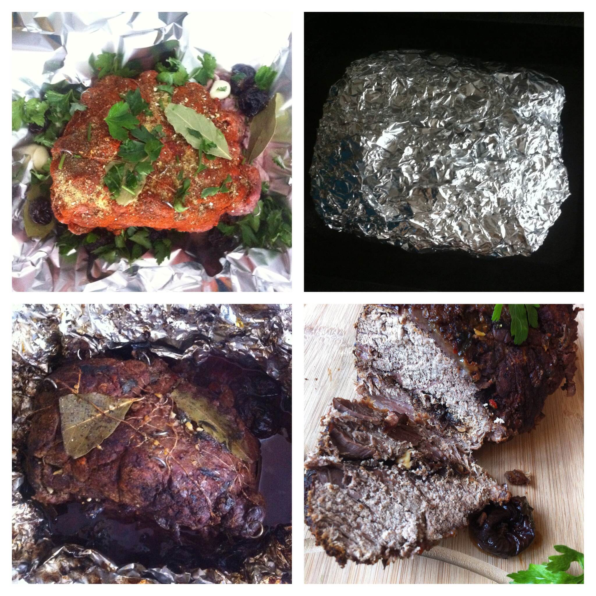 Parsley. Bay leaves. Spices. Wine. Cover up. Bake,. Unwrap. Enjoy.